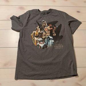mens 2Xl Disney Starwars the force awakens t shirt